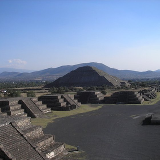 The Aztec step pyramids of Teotihuacan are in Mexico City.