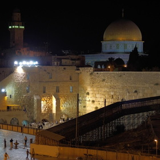 The Wailing Wall and Temple Mount