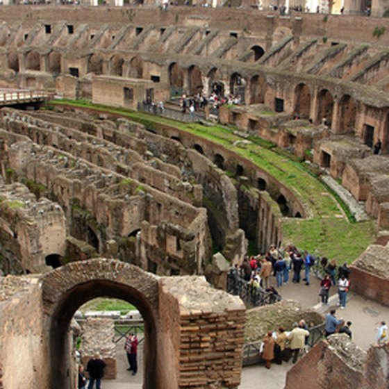The Colosseum in Rome is one of Italy's most famous tourist attractions.