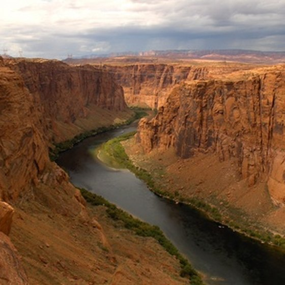 The Colorado River cuts through the Grand Canyon for 280 miles