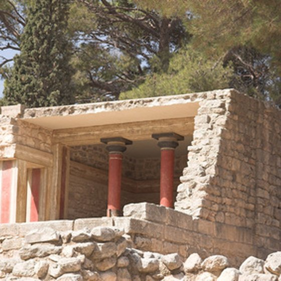 Greek myth says Theseus killed the Minotaur in Knossos, on the island of Crete.