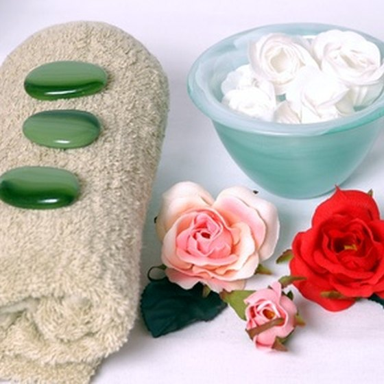 Hot stone massages and flower facials will help you relax.
