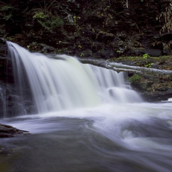 Visitors to Watkins Glen, New York can enjoy numerous waterfalls.