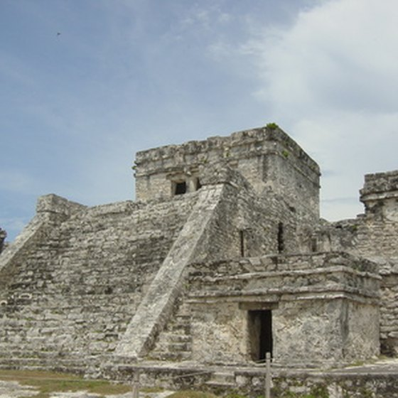 A visit to the Mayan ruins at Tulum is a popular shore excursion on a Yucatan cruise.