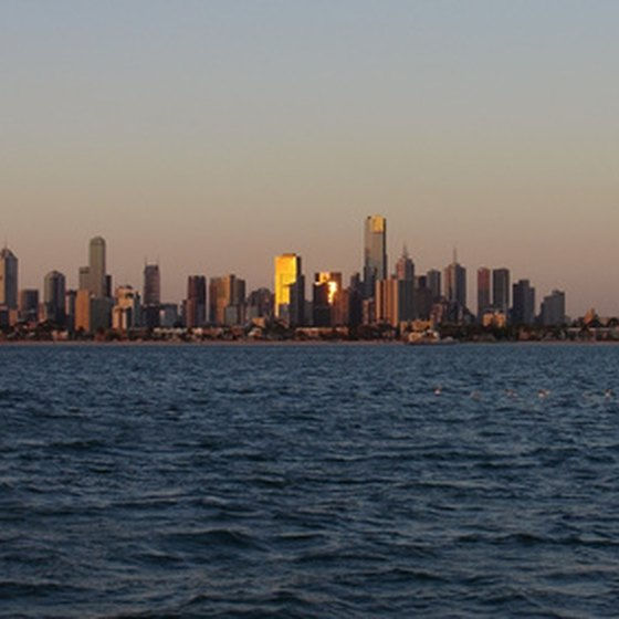 Take in Melbourne's skyline while participating in a dinner cruise.