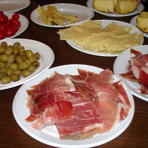 Tapas ingredients