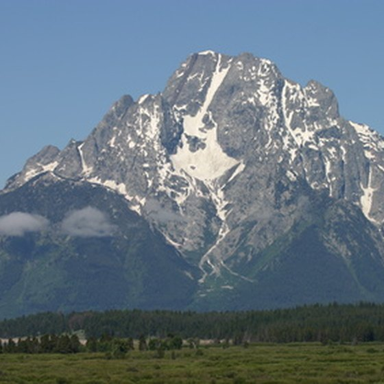 The Grand Teton is the jewel of the Teton Range.
