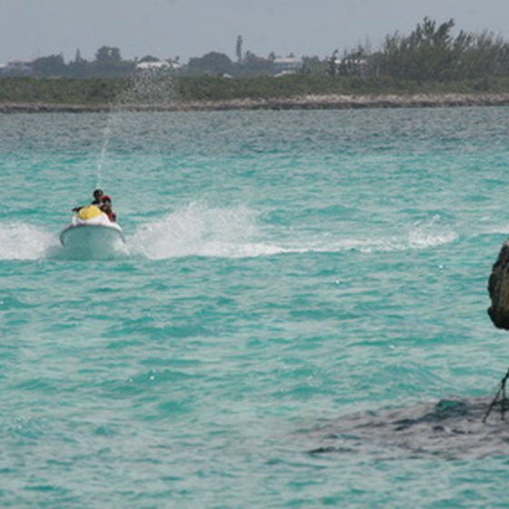 Jetski in the Bahamas