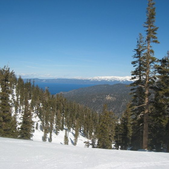 Ski slopes at Lake Tahoe.