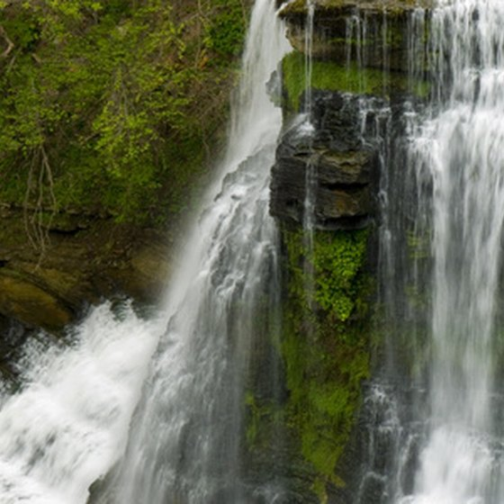 Waterfalls are just one interesting thing to see in the Tennessee mountains.