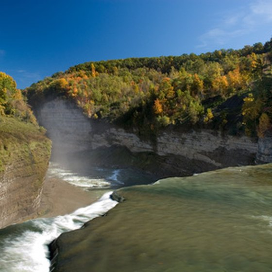 The Genesee River flows through Letchworth State Park.