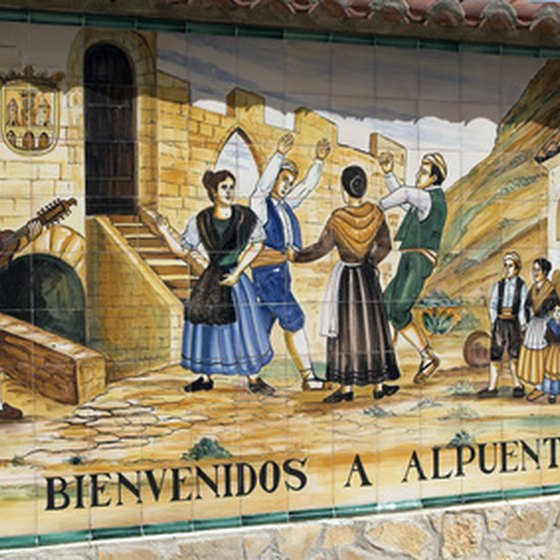Many Spanish towns have colorful murals.