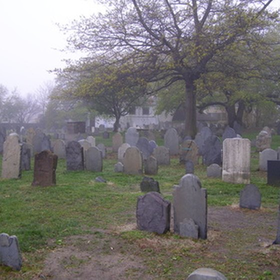 Salem's cemeteries make a popular stopping point on nighttime tours.