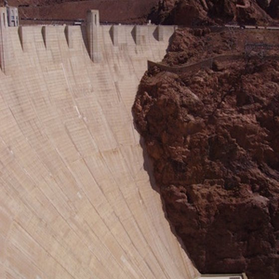 Hoover Dam, once the largest manmade structure in the world