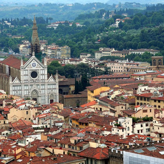 Tuscany's capital city of Florence, 186 miles from Rome, is famous for its abundance of monuments and works of art.