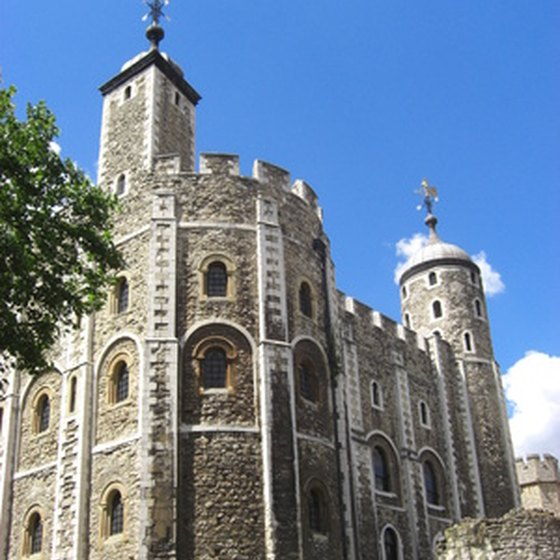 The Tower of London is a popular tourist stop.