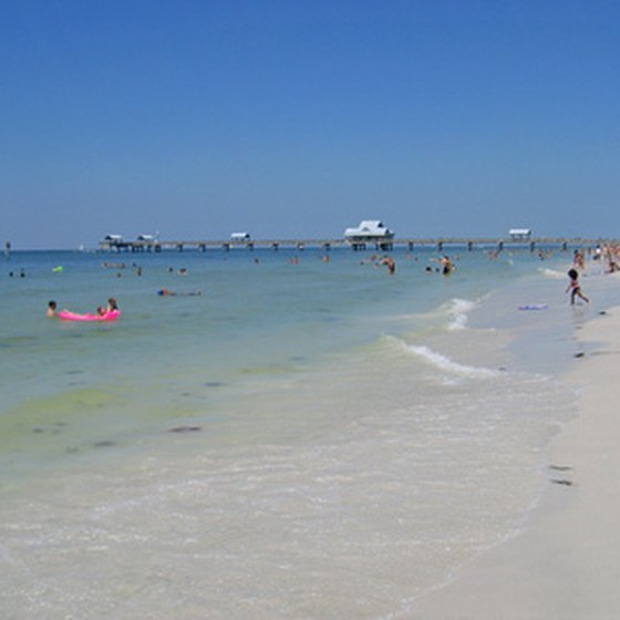 The beach at Clearwater, Florida