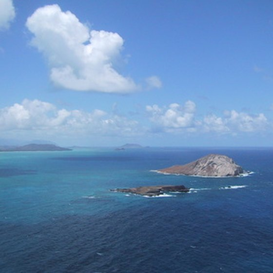 Even the busy island of Oahu offers stunning views of offshore islands and the Pacific ocean.