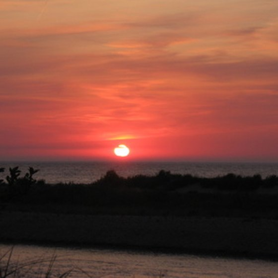 Enjoy sunsets over Lake Michigan when camping.