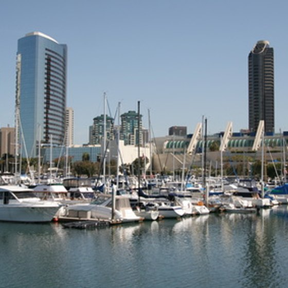 Hotels in the Marina District offer views of the bay.