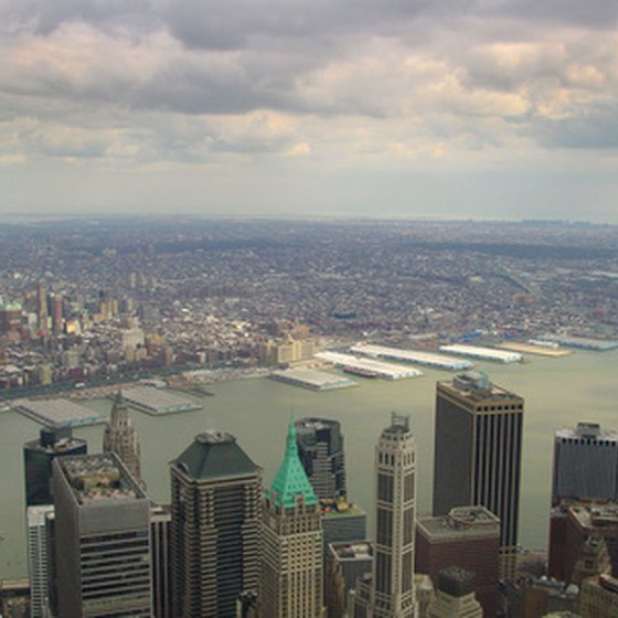 A view of Manhattan from above