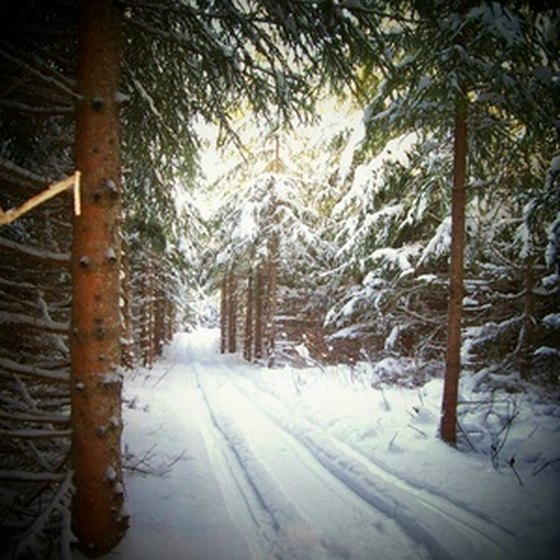 Spooner offers trails for snowmobiling, hiking, and other activities.