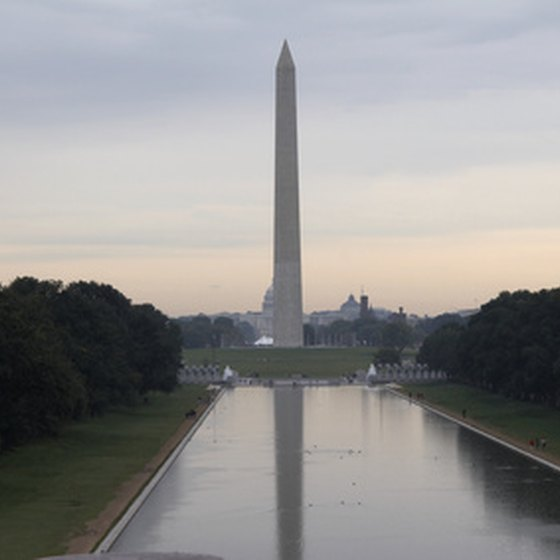The Washington Monument is just one of many attractions at the National Mall.