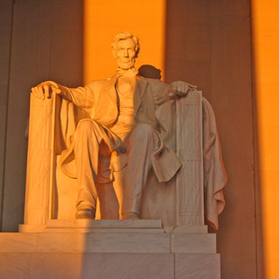 The Lincoln Memorial in Washington, DC.