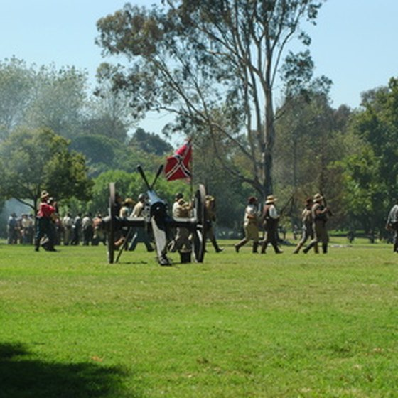 Civil War reenactments can be seen at many of Georgia's historic parks.
