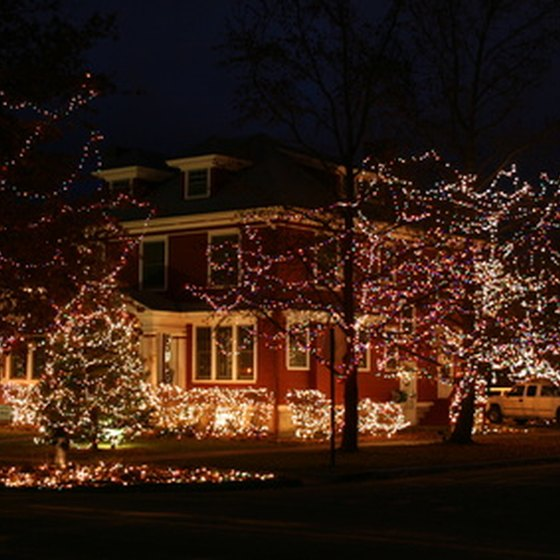 Christmas lights create a warm feeling wherever you are.