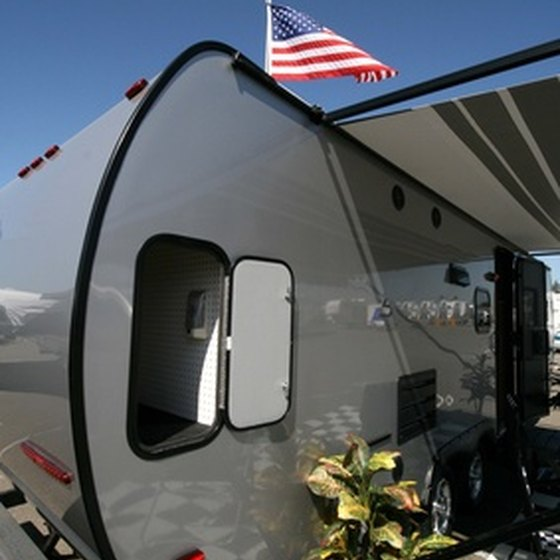 RV setup for camping