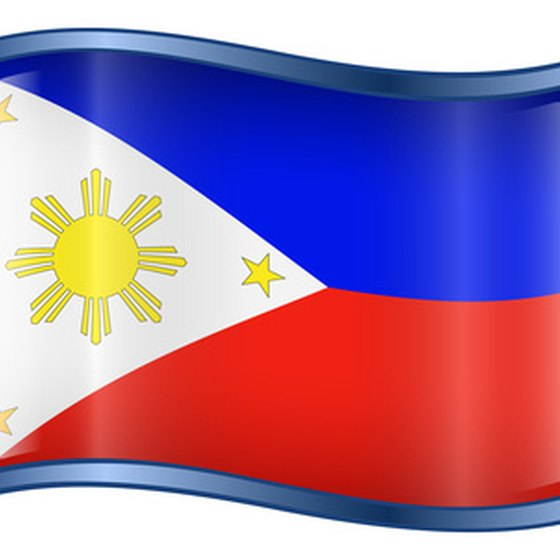 The Filipino flag flies in Manila, the nation's capital.