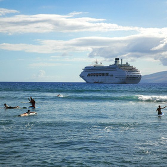 A number of cruise liners explore the tranquil waters of the Philippines.