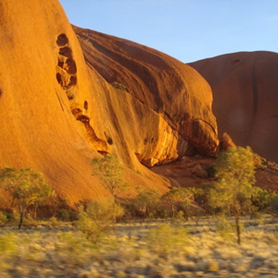 Visit Ayers Rock in the Australian Outback.