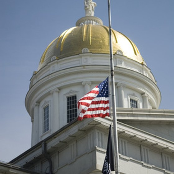 The capitol building in Montpelier, Vermont