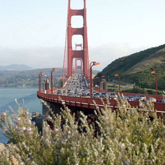 The Golden Gate Bridge stands just minutes south of Novato, California.