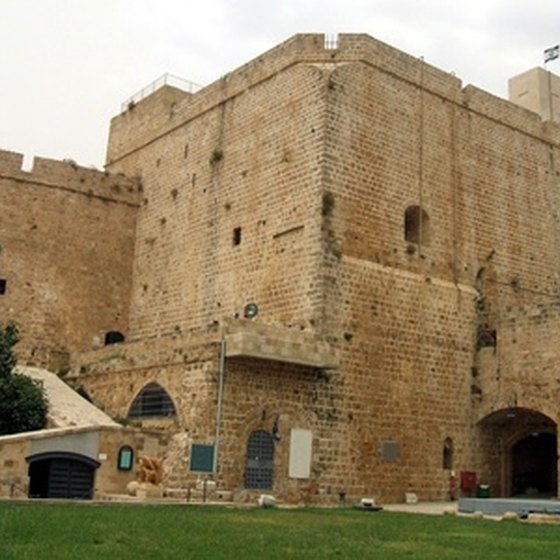 The Crusader castle at Acre is one of Israel's attractions.