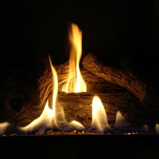 Hocking Hills State Park cabins feature fireplaces.