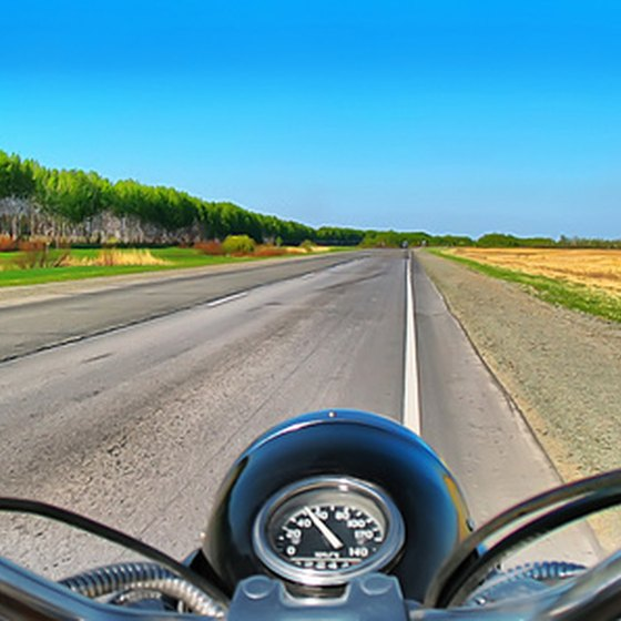 Motorcycles are great for cruising the open road.