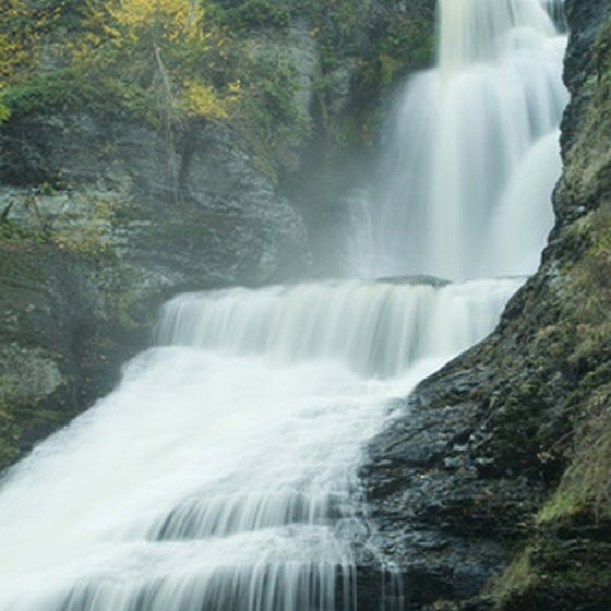Pennsylvania has an abundance of waterfalls, lakes and rivers for RV campers.