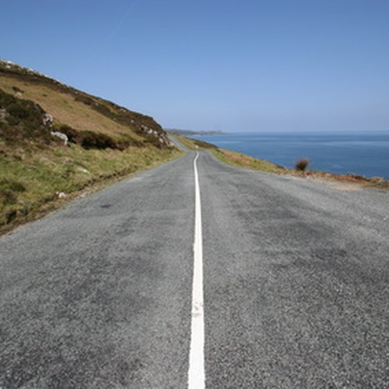 Irish roads can be very narrow when you get off the highway.