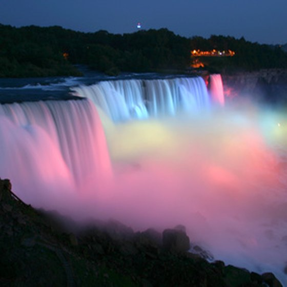 Niagara Falls is at the western edge of New York state.