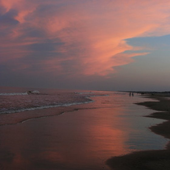 Ocean City, Maryland, at sunset.