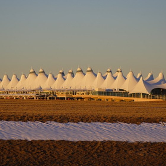 Denver International Airport averages 1,550 fights daily as of 2010.