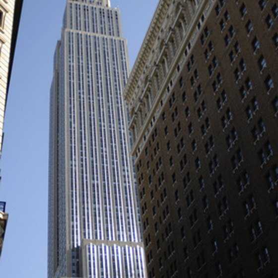 The Empire State Building is a famous New York City landmark.