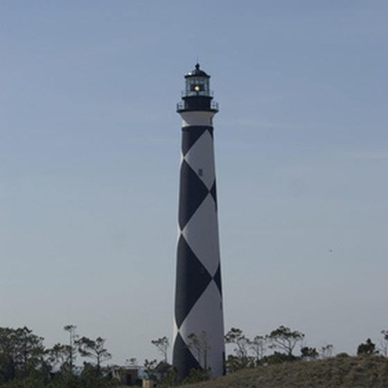 The Cape Lookout lighthouse is the tallest in the United States