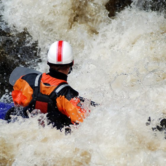 The New River offers class III and IV rapids