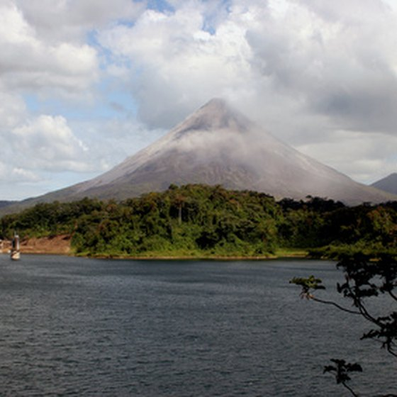 Mount Arenal is an active volcano in Costa Rica.