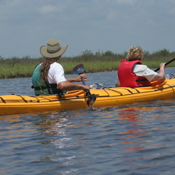 Kayaking is a popular ecotourist activity.