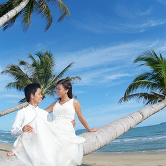An exotic beach can create a stunning backdrop for your wedding.
